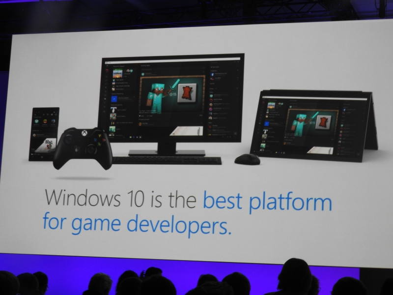 Microsoft says Windows 10 is open, and the best platform for game makers.