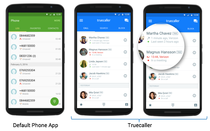Default Phone App vs. Truecaller