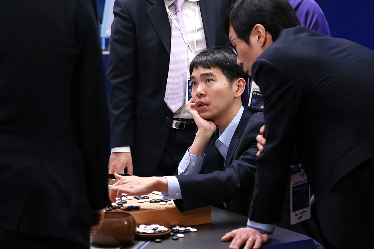 Sedol during Game 5 on March 15 in Seoul.