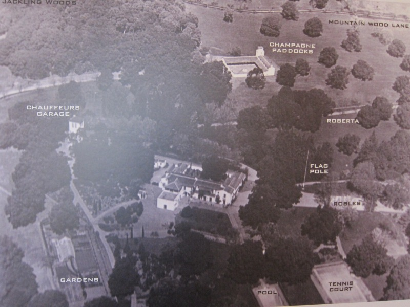 Aerial photo of the Jackling Estate on display at the Woodside Community Museum.