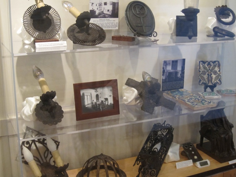 Artifacts salvaged from the Jackling Home, on display at the Woodside Community Musuem.