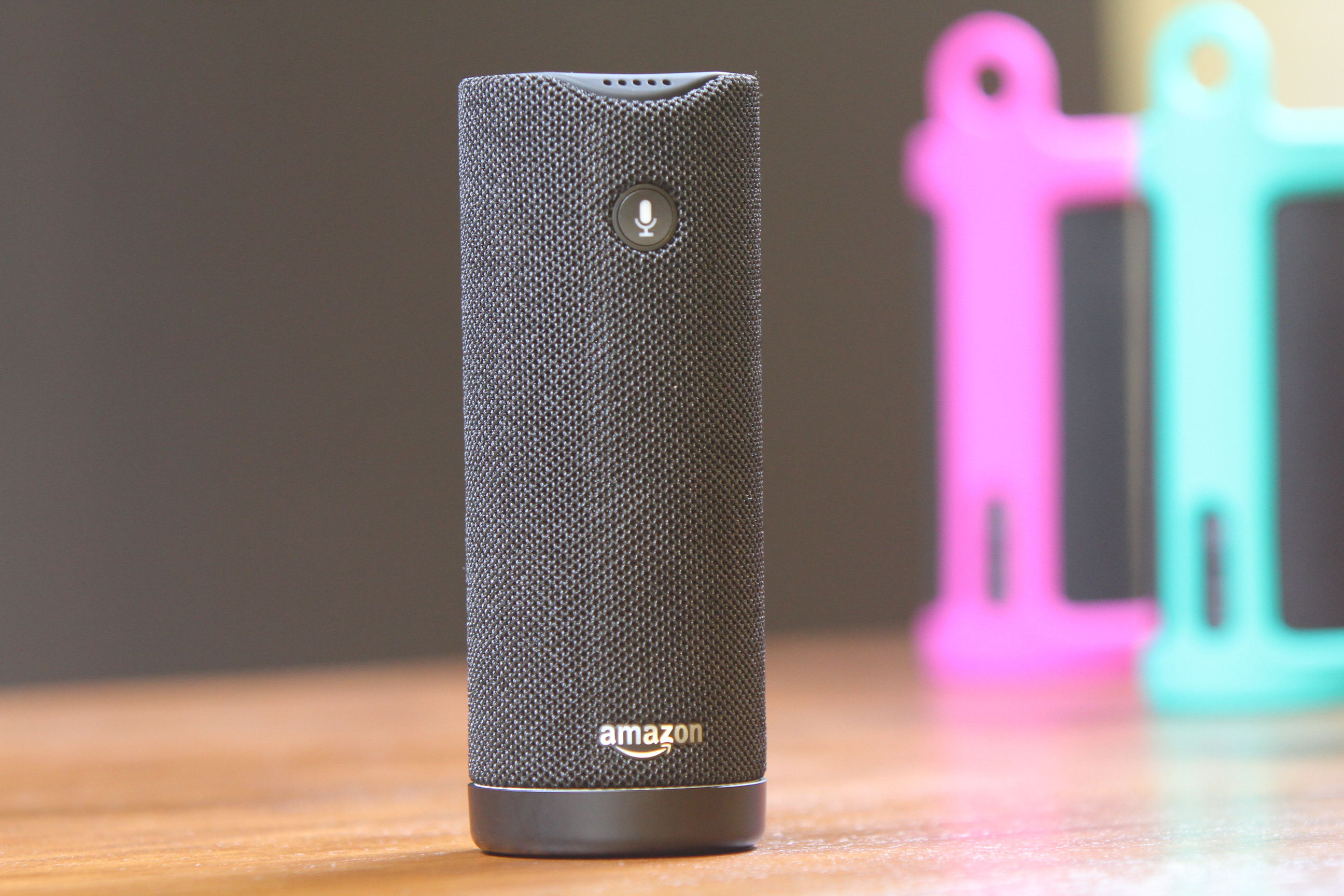 Amazon Tap: A smaller Echo device that's portable and Alexa-enabled.