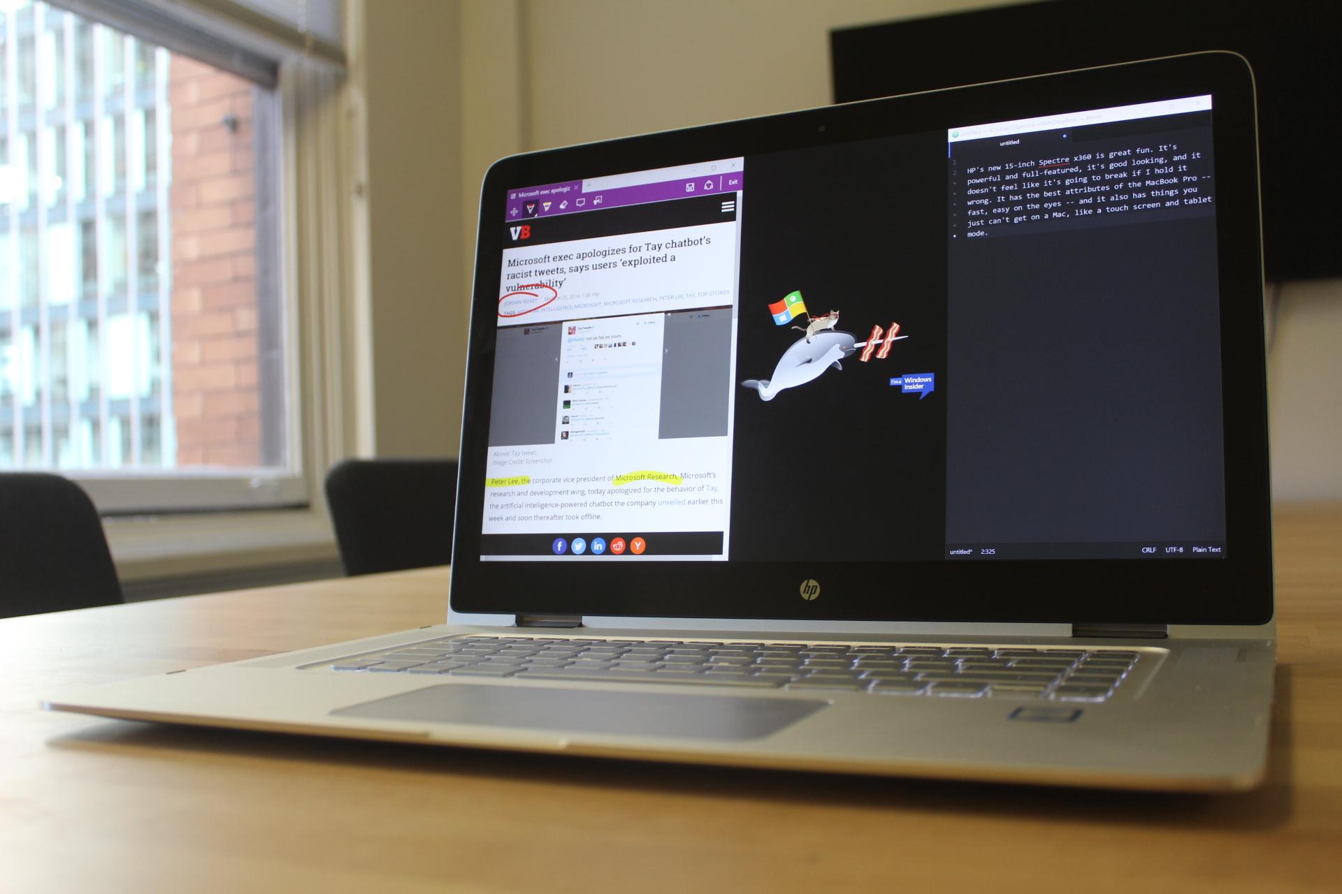 HP's 15-inch Spectre x360 is a big, fast, sleek Windows
