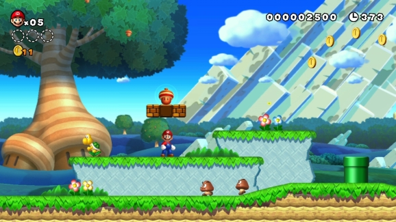 New Super Mario Bros. U in action for the Wii U.