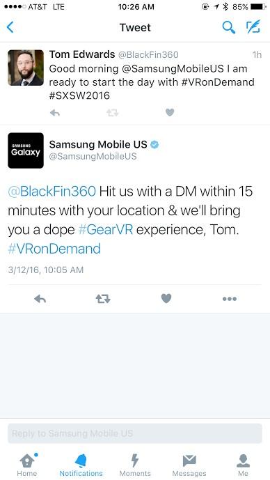 Samsung tweet