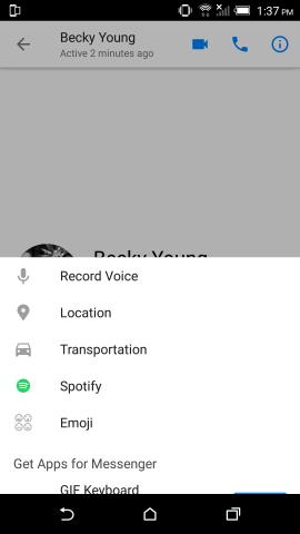 Facebook Messenger + Spotify