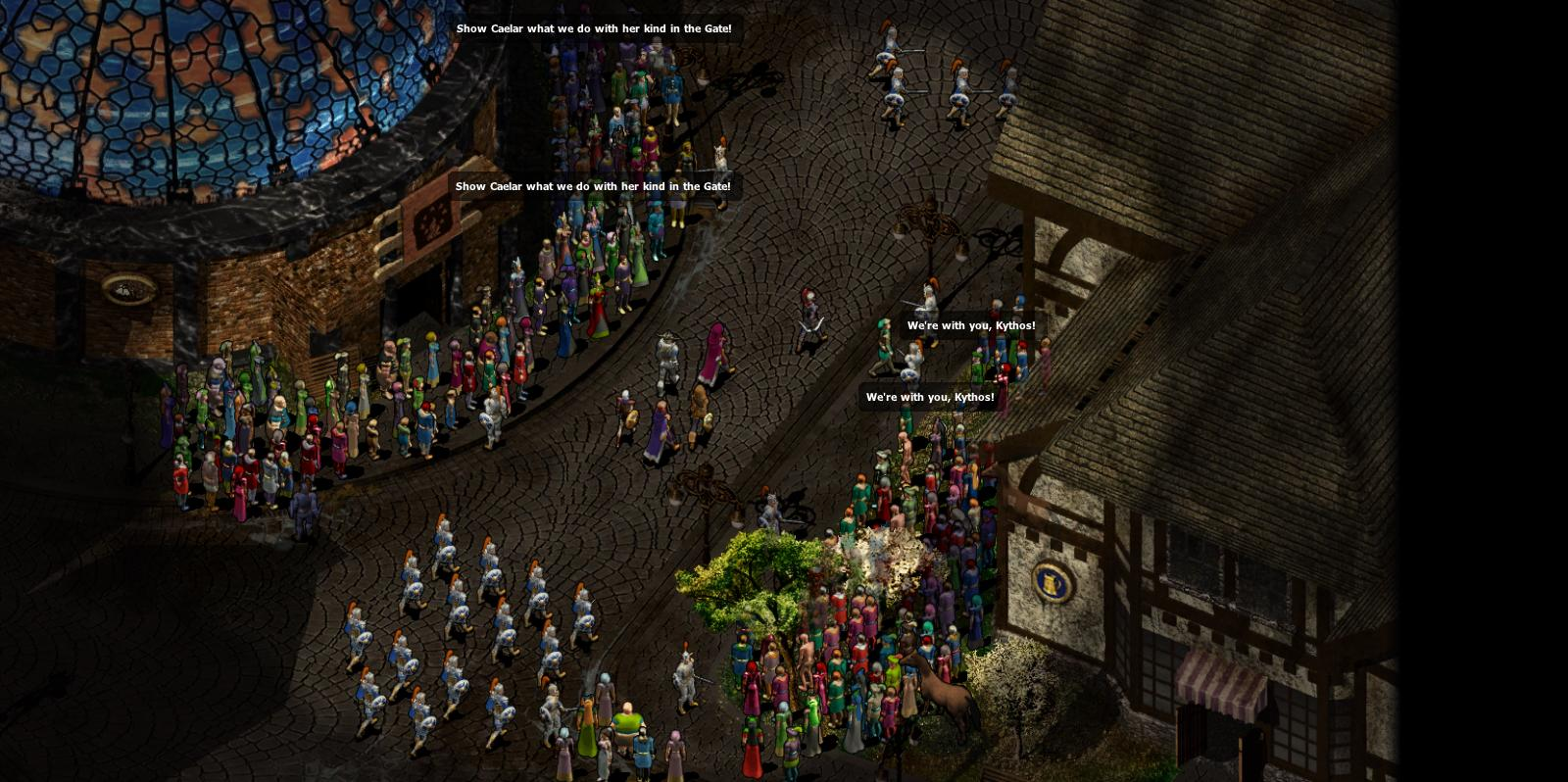 Another change Beamdog has made to the Infinity Engine: It can show many more people now at once.