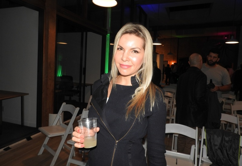 Amber Cordeaux of Humense came from Australia to the Upload Collective event.