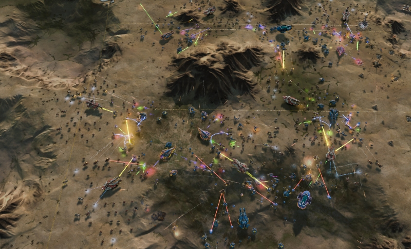 The landscapes are procedurally generated in Ashes of the Singularity.