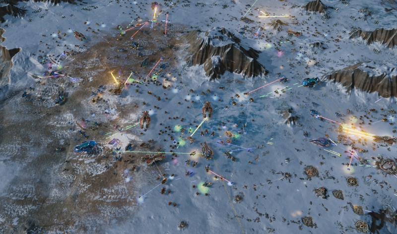 Can you count the number of units on the screen in Ashes of the Singularity?