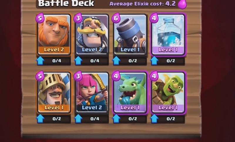 Clash Royale gives you choices for your deck.