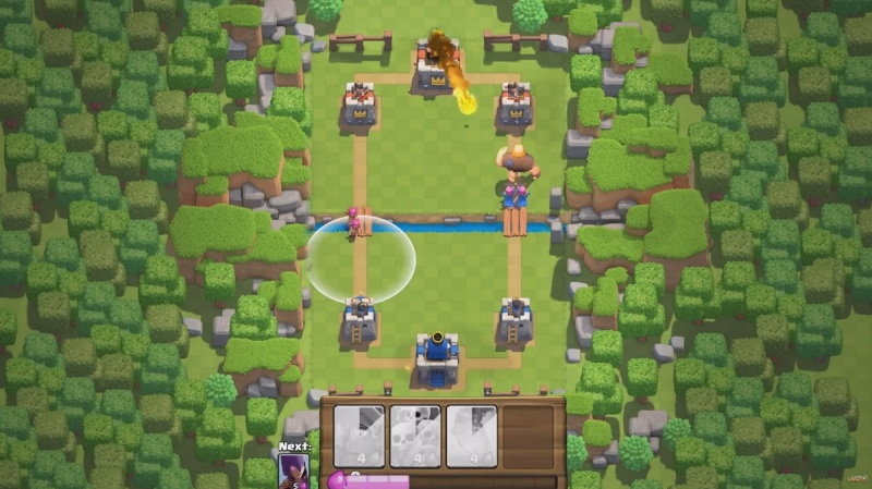 Clash Royale is a very simple real-time strategy game with Clash of Clans characters.