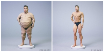 Firebox launches nearly nude 3D-printed selfies to destroy humanity's last shred of dignity