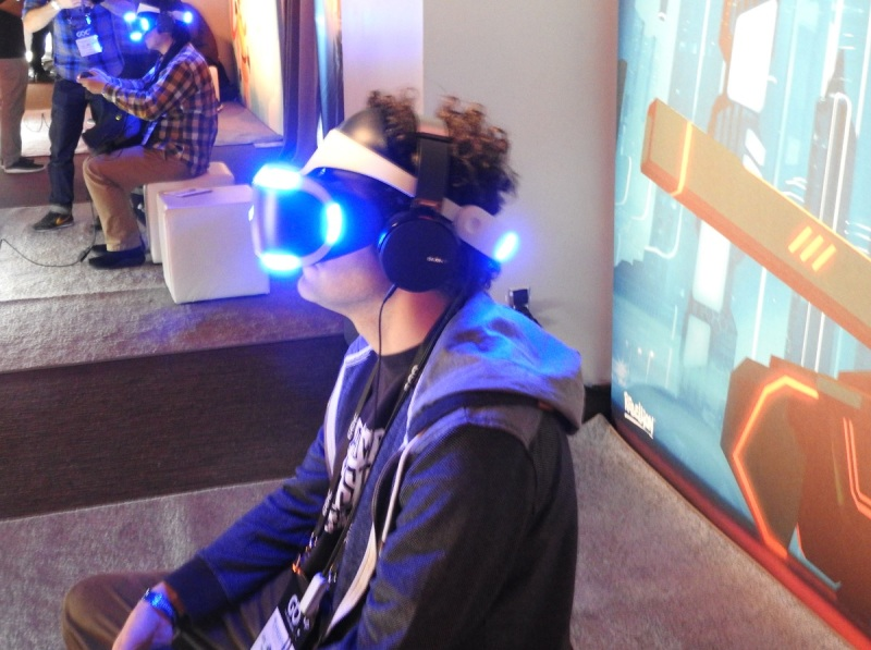 PlayStation VR demo at the GDC.