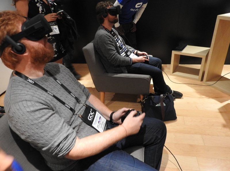 Oculus Rift demo of Eve: Valkyrie at GDC 2016.