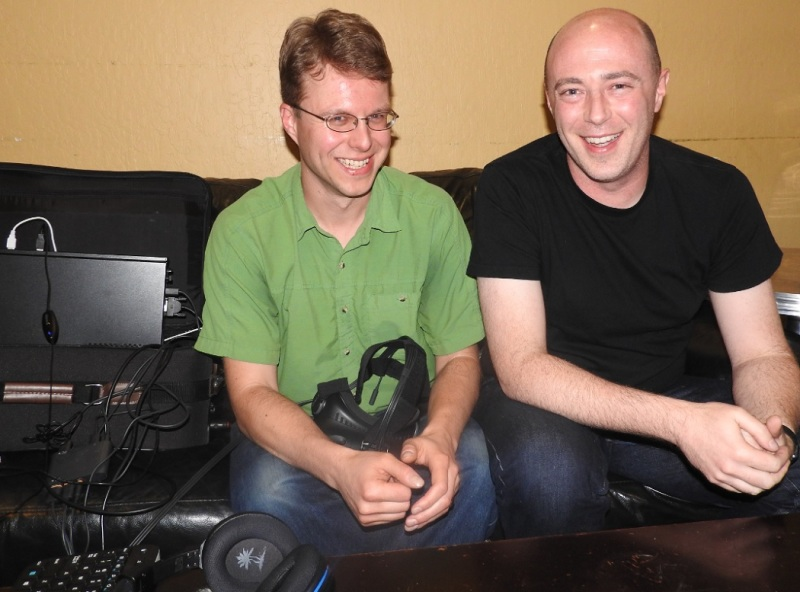 Tom Sanocki (left) of Limitless and Mark Walsh of Motional.