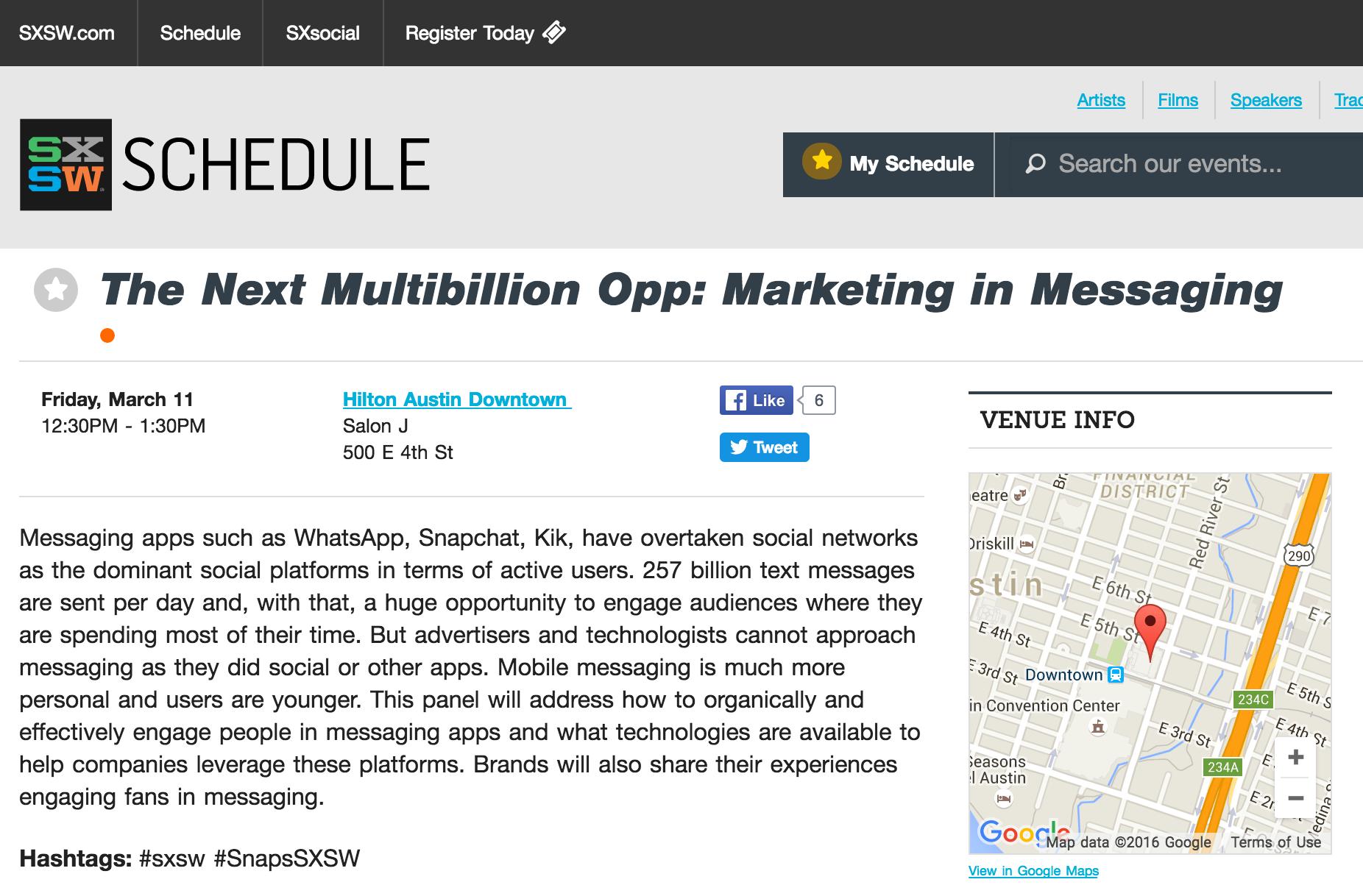marketing in messaging