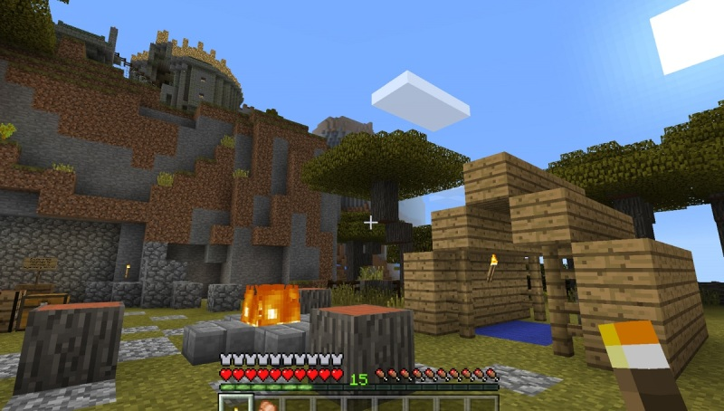 Minecraft in Oculus Rift