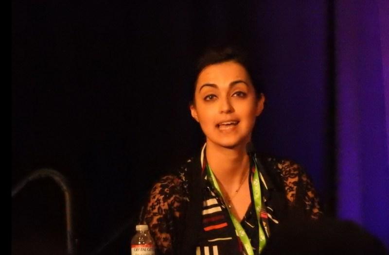 Romana Ramzan at GDC panel on Muslims in games.
