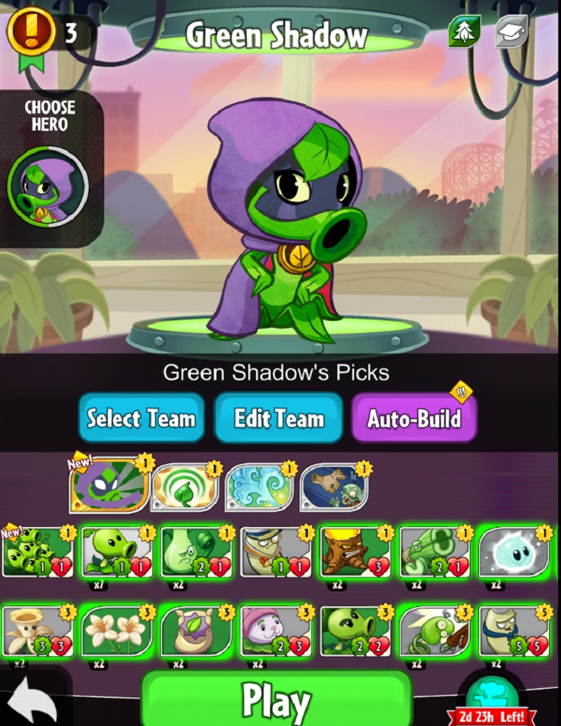 There are 300 characters in the Plants vs. Zombies Heroes collectible card game.