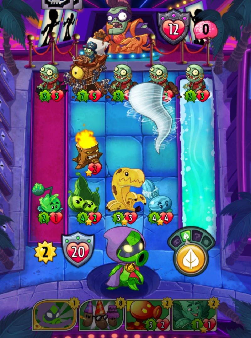 You have to fight in familiar lanes in Plants vs Zombies Heroes from EA.
