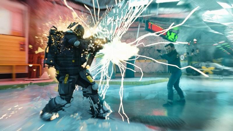 Jack Joyce manipulates time to foil an attacker in Quantum Break.