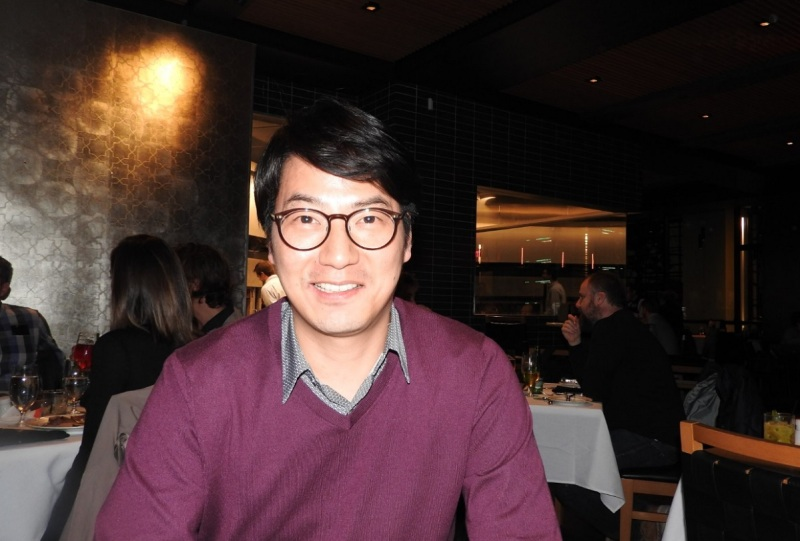 Seungwon Lee at the Game Developers Conference in San Francisco.