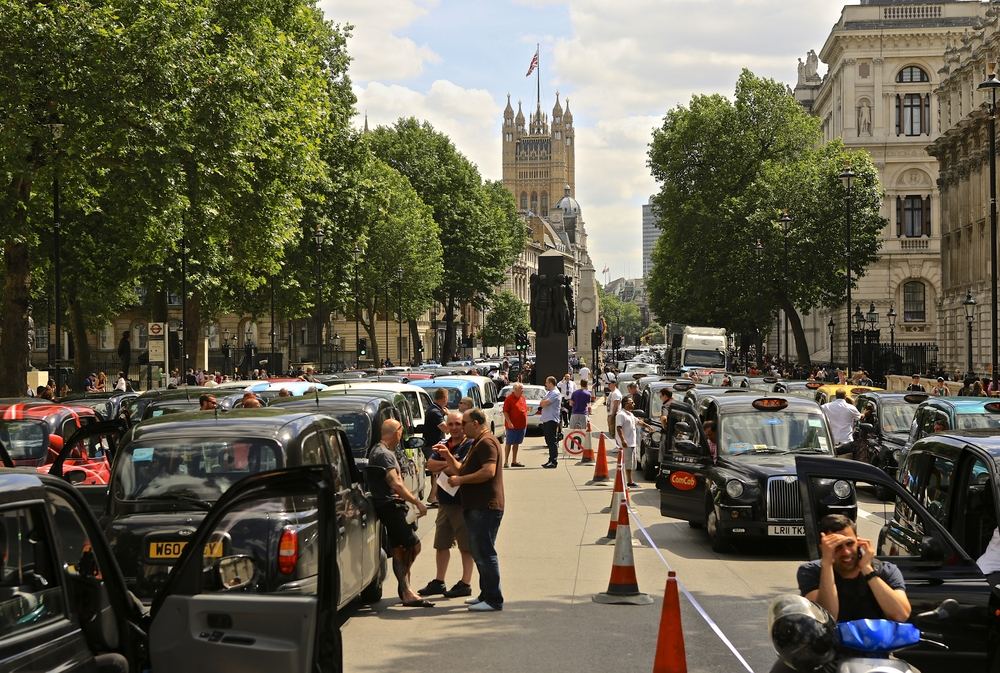 Licensed Black Taxis Demonstrate against TfL 11th June 2014 in Whitehall - London