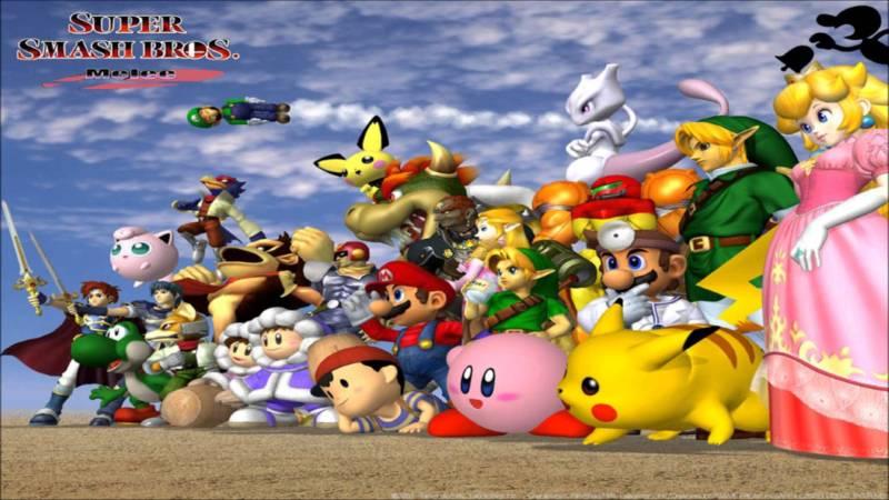 Super Smash Bros. Melee's large cast.