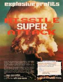 An ad for Super Missile Attack.