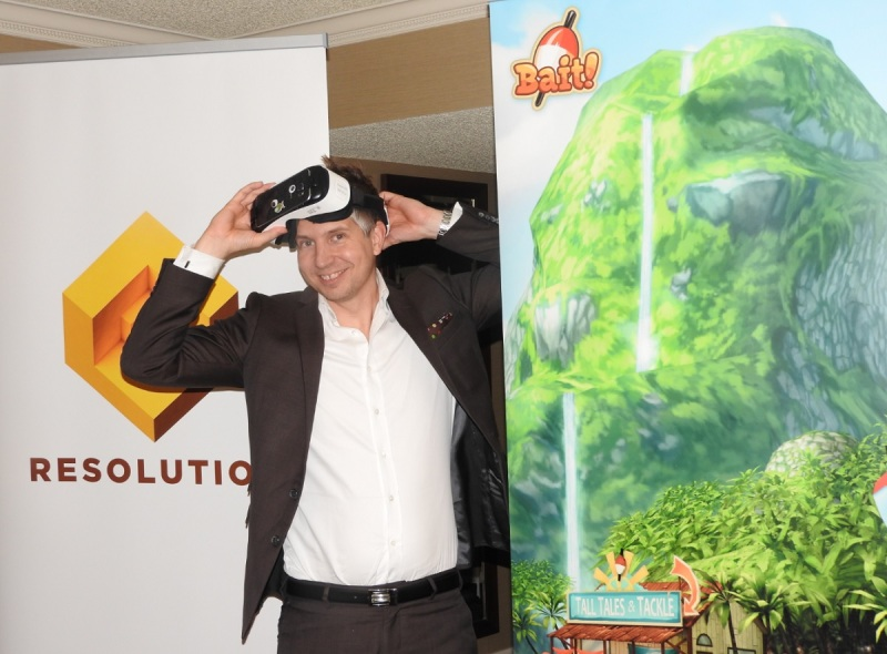 Tommy Palm of Resolution Games is co-creator of Bait! for the Samsung Gear VR.