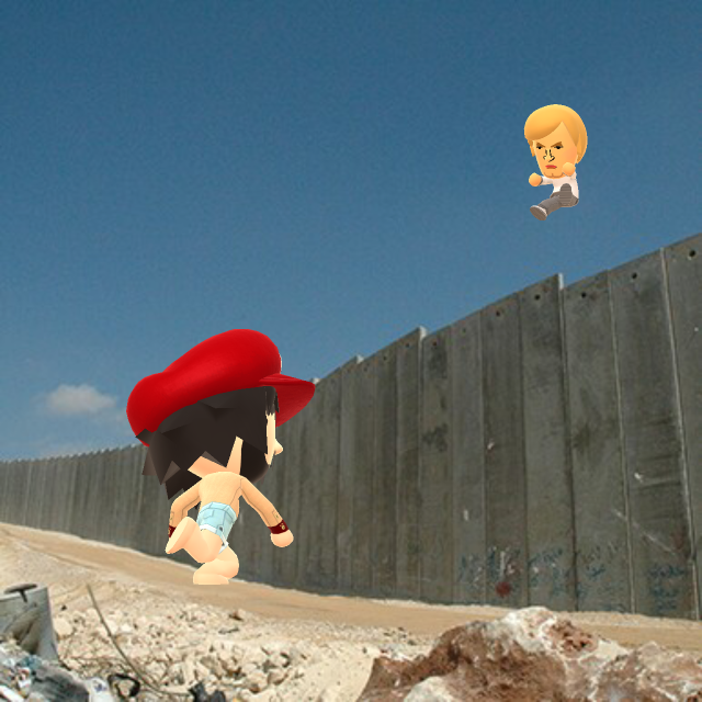 Although, it's worth having a dead battery if you get to throw Donald Trump over a wall.