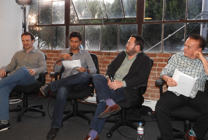 VR investors Greg Castle (left to right), Amitt Mahajan, Jeff Wasson, and Marco DeMiroz.
