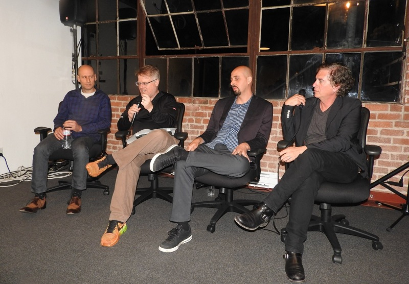 VR panelists (left to right) Ori Inbar, Robert Scoble, Peter Wilkins, and Tony Parisi.