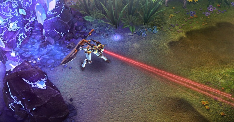 Vainglory's engine allows for cool close-ups of game characters.