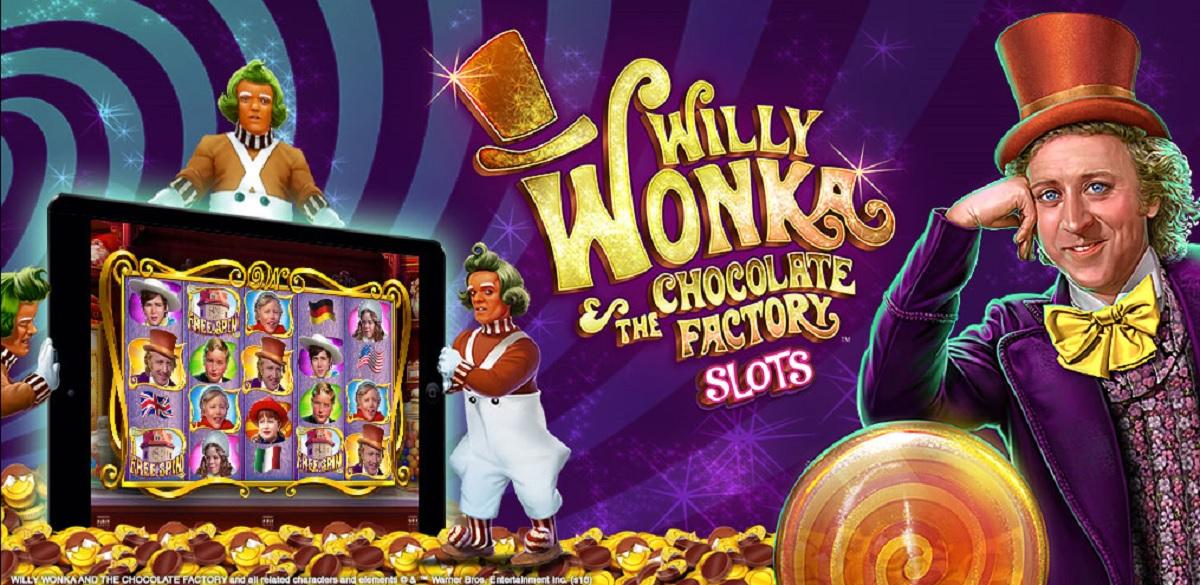 Willy Wonka social casino slots game.