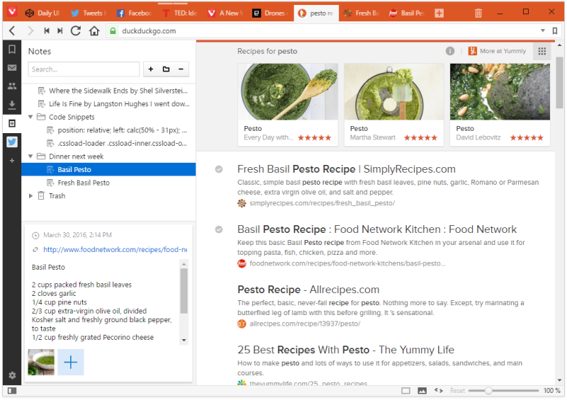 Vivaldi Browser 1.0
