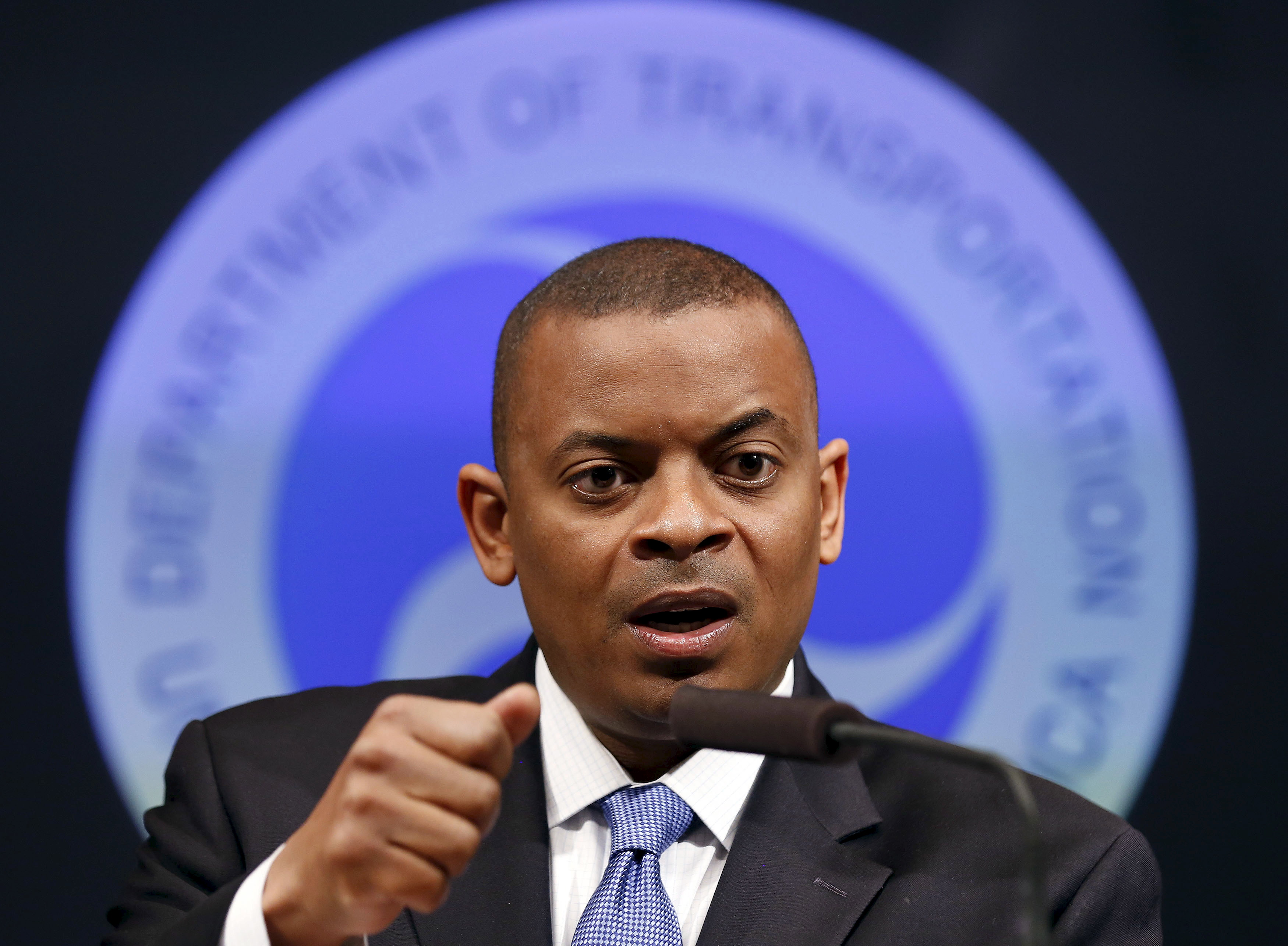 U.S. Transportation Secretary Anthony Foxx delivers an announcement at the Department of Transportation in Washington, U.S., May 16, 2014. REUTERS/Larry Downing/File Photo