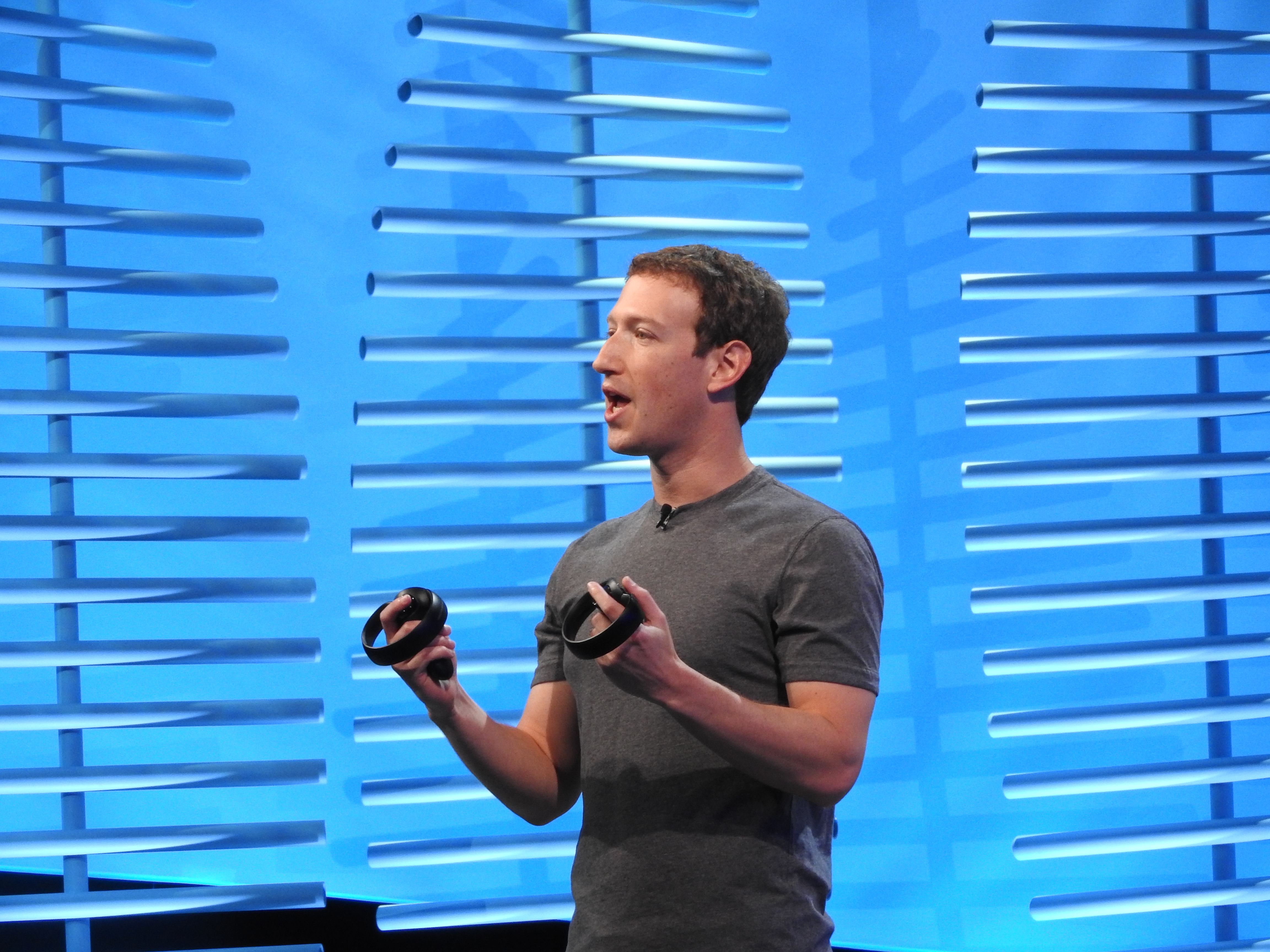 Mark Zuckerberg shows off Oculus Touch