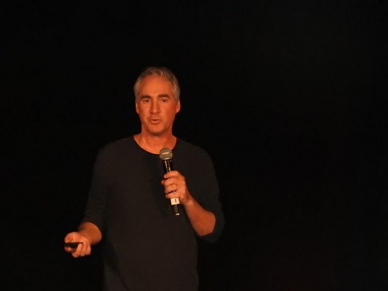 Ted Schilowitz, futurist at 20th Century Fox, at SVVR 2016.