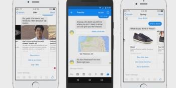Facebook Messenger's 'rich bubbles' make dumb bots usable
