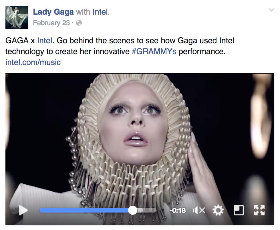 Facebook Branded Content: Lady Gaga