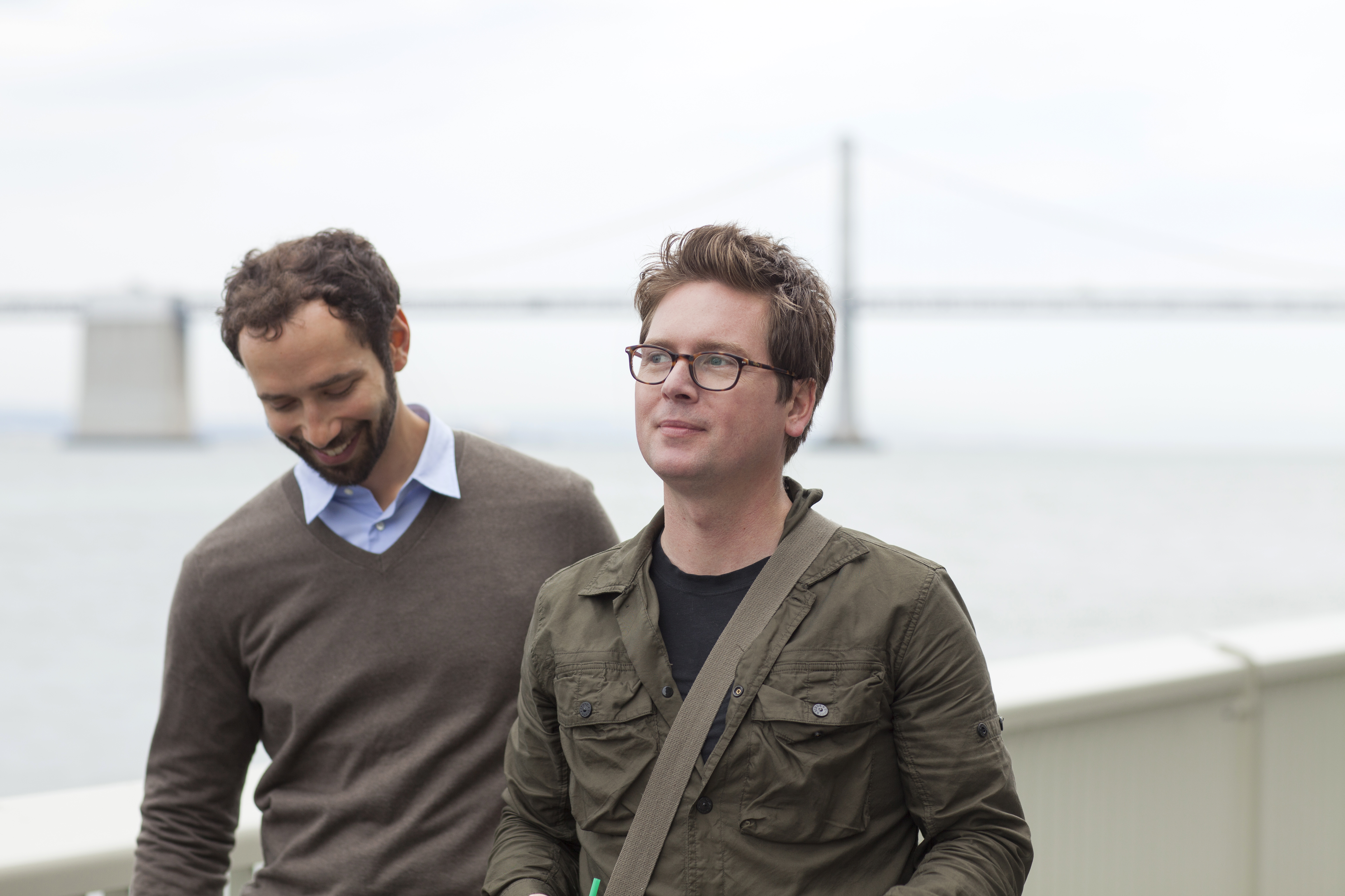 Jelly cofounders Ben Finkel (left) and Biz Stone (right)
