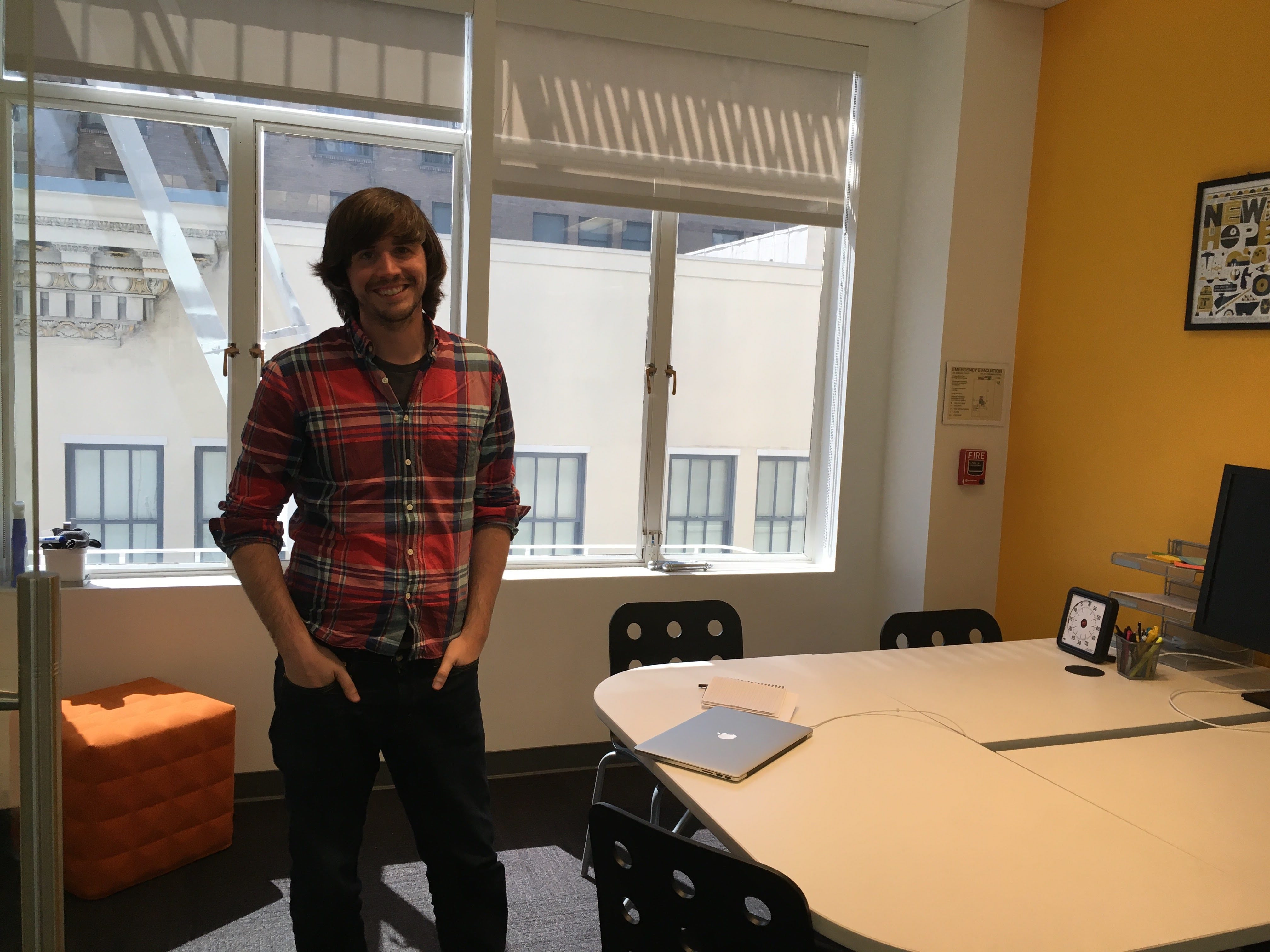 Pocket founder and chief executive Nate Weiner in his office.