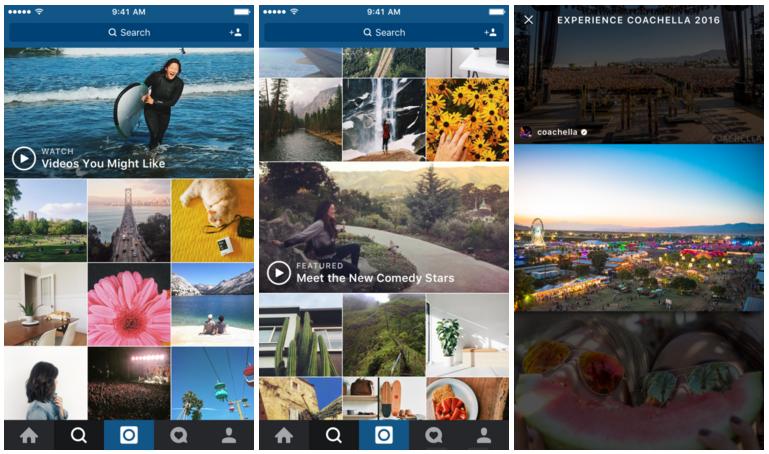 Instagram video channels in explore