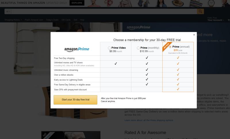 Amazon Prime: More plans