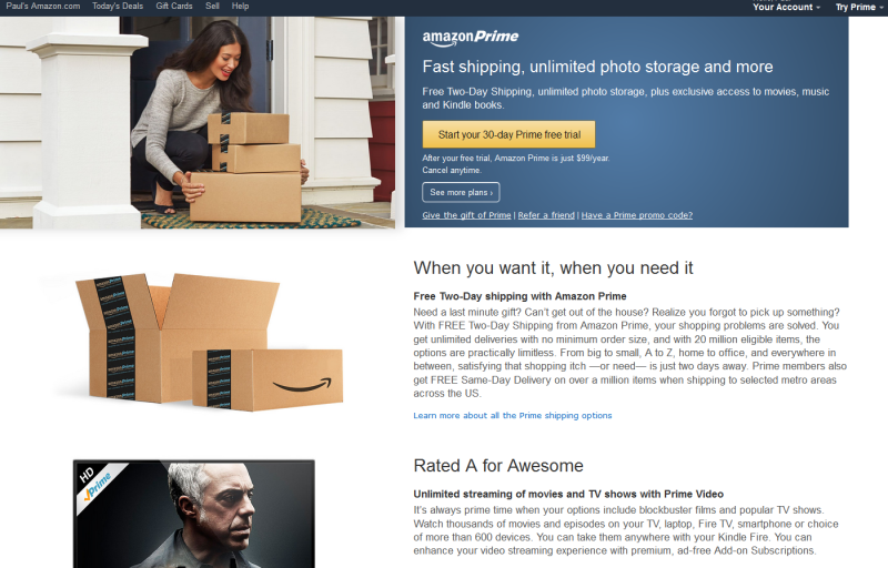 Amazon's standalone video-streaming subscription shows just