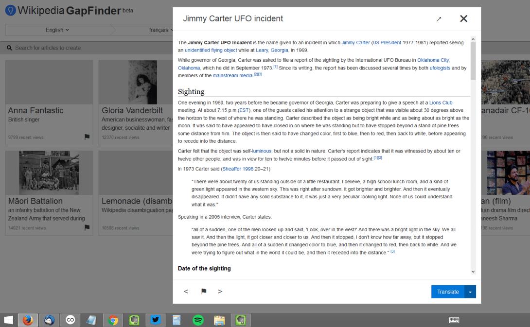 Wikipedia GapFinder (Beta)