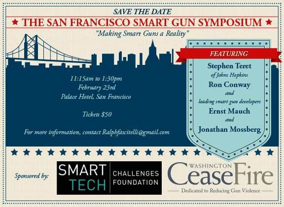 A smart gun event was held in San Francisco on February 23, 2016.
