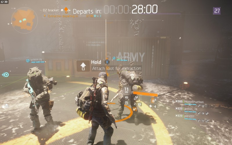 The Division: Dark Zone extraction